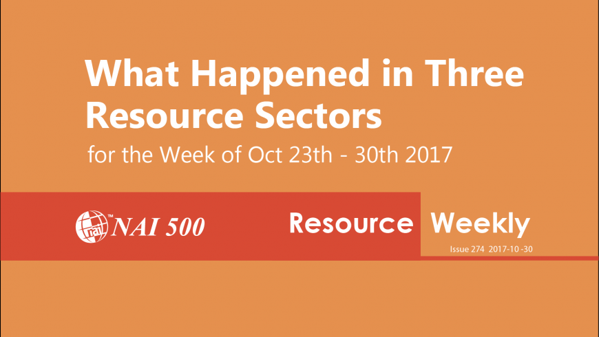 NAI500 Resource Weekly Issue 274 – LIGHT CRUDE OIL JUST BROKE OUT Now the Fun Really Begins!