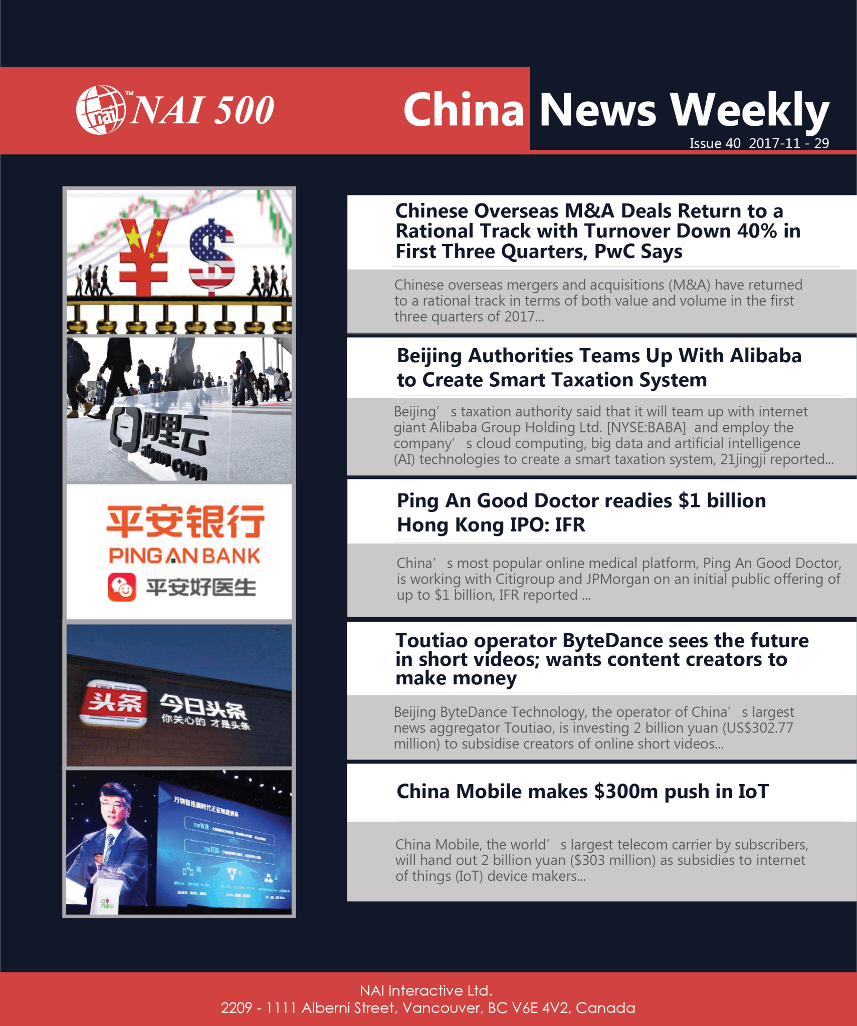 China News Weekly 40 -Chinese Overseas M&A Deals Return to a