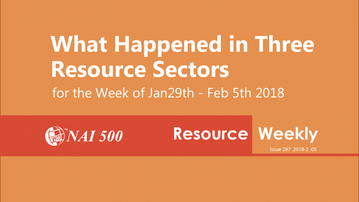 Resource Weekly 287 –  Goldman Confirming What We Knew for Months: Mining is Back!