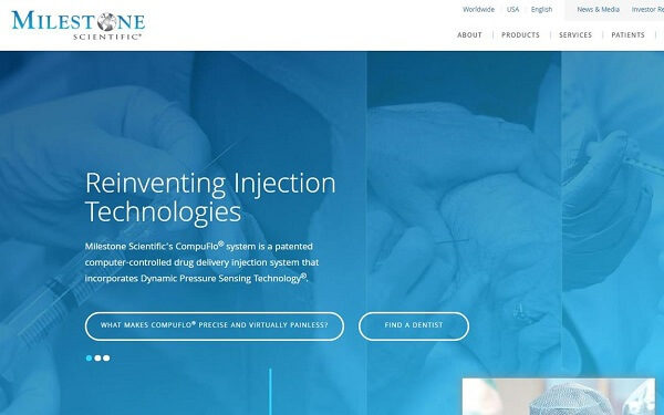 Meet this FDA Approved Medical Device Company that Is Making Big Moves into China's Anesthetic Injections Market - Milestone Scientific