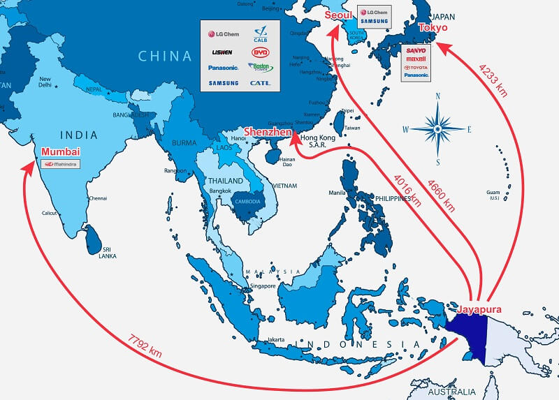 Map Of Asia 500.Pacific Rim Cobalt Corp Asia Map Nai 500