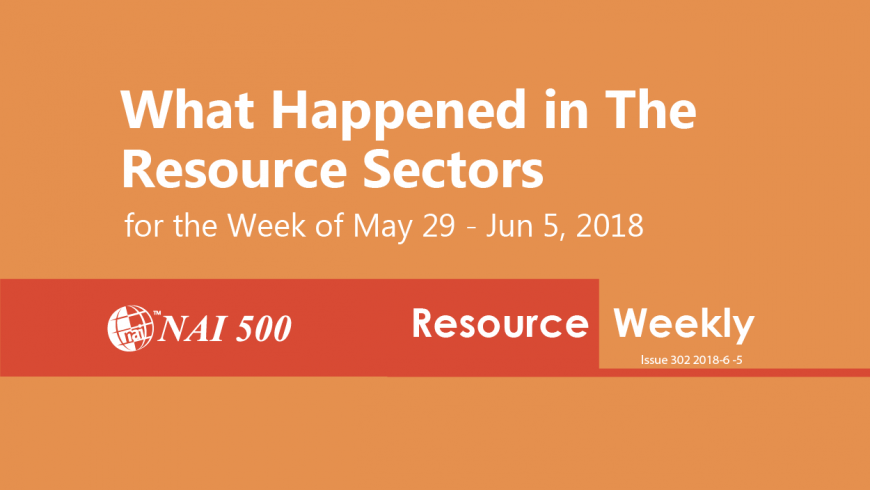 Resource Weekly 302 – China's Pengxin in talks to buy Indonesian gold mine Martabe: WSJ