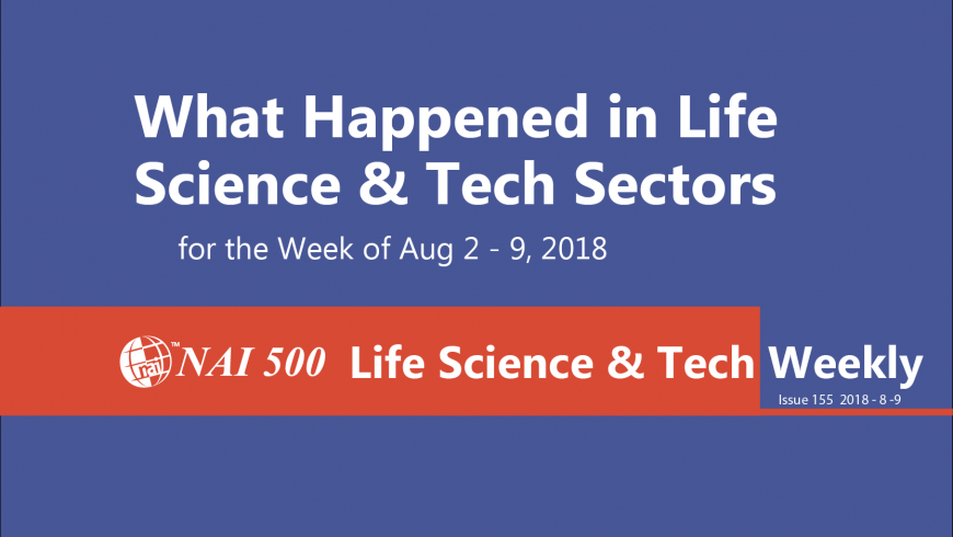 Life Science & Technology Weekly 155 – Trump says will make announcement next week on reducing drug prices