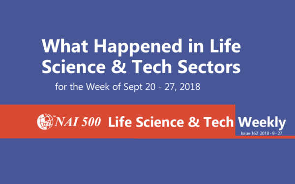 NAI Life Science & Technology News Weekly - www.nai500.com