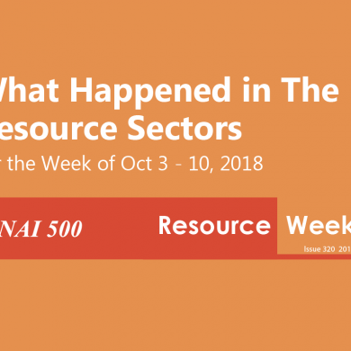 Resource Weekly 320 – Chile's Codelco plans to raise $1 billion in 2019