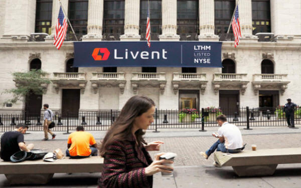 Lithium producer Livent falls 3.6 percent in market debut