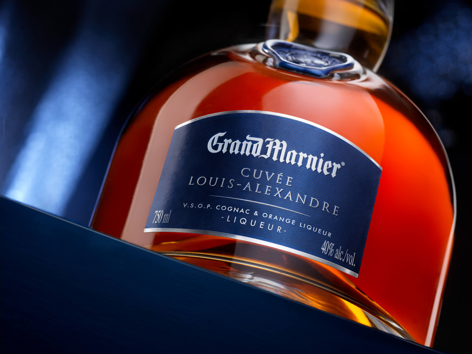 Two bottles of Grand Marnier Cuvée Louis-Alexandre