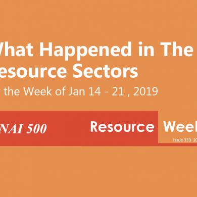 Resource Weekly 333 – Record $93B private capital flows into natural resources
