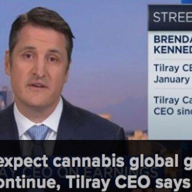 大麻种植商Tilray销售额翻一番,股价上涨