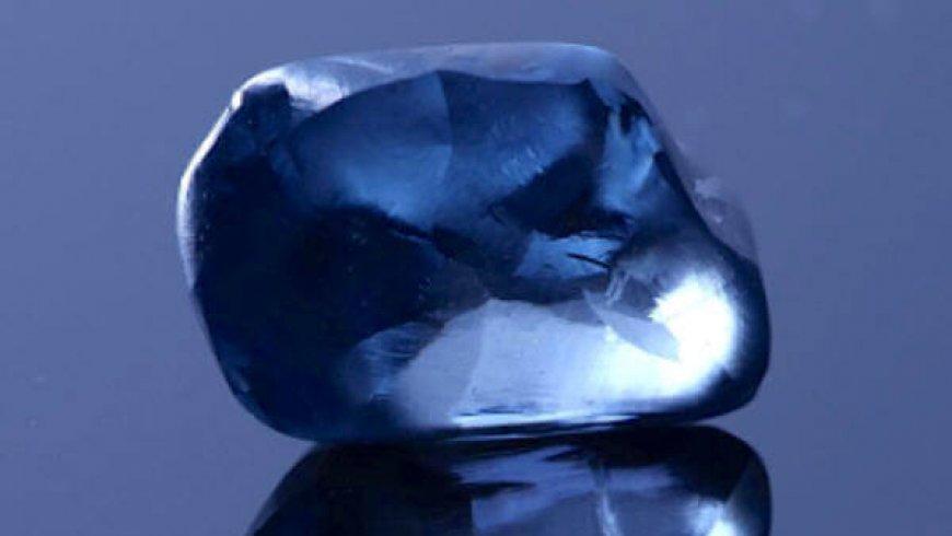 Botswana unveils rare 20-carat blue diamond, the country's largest ever