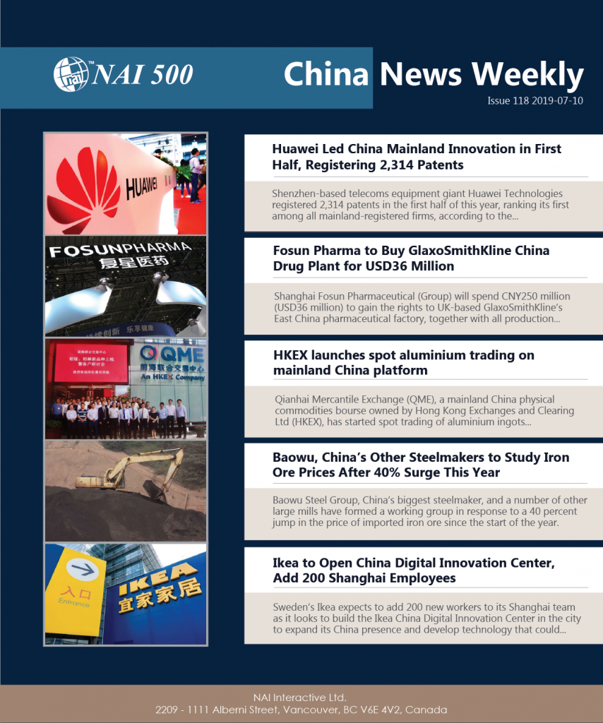 China News Weekly 118 – Huawei Led China Mainland Innovation in First Half, Registering 2,314 Patents