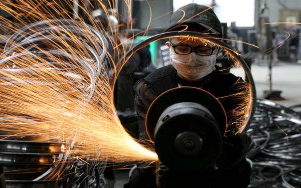 经济数据 中国9月份工业增加值