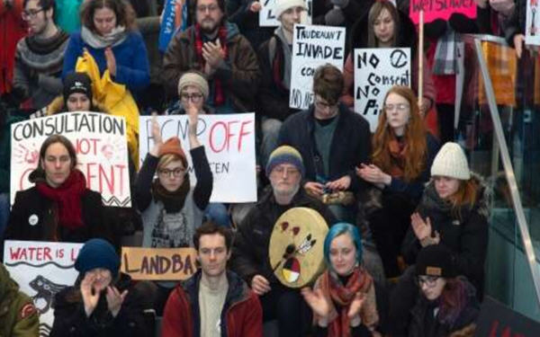 Coastal GasLink输油管道示威抗议