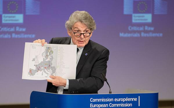 欧盟将电池金属锂加入关键原材料清单中