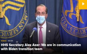 美国卫生部长:拜登过渡团队应对新冠疫情