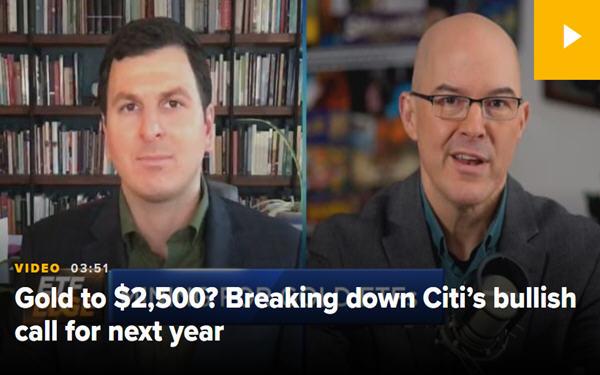 两名ETF分析师支持花旗看涨金价2500美元的观点